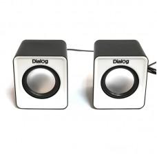 Колонки Dialog Colibri AC-02UP (Чёрно-белые)
