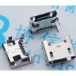 Разъем Micro USB 5pin B Socket4 прямой